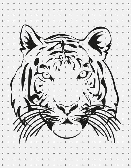 Dieser Tiger ist eine DIY Datei zum Schneiden mit einem