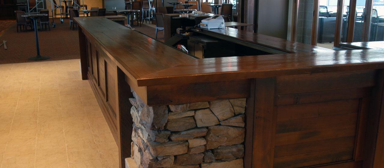 Wood Bar Top   Reclaimed Antique Douglas Fir | Basement Bar .