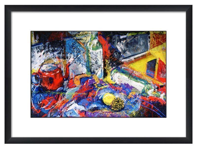 Tableau encadr contemporain table multicolore d co multicolore tableau encadr tableau et - Deco table multicolore ...