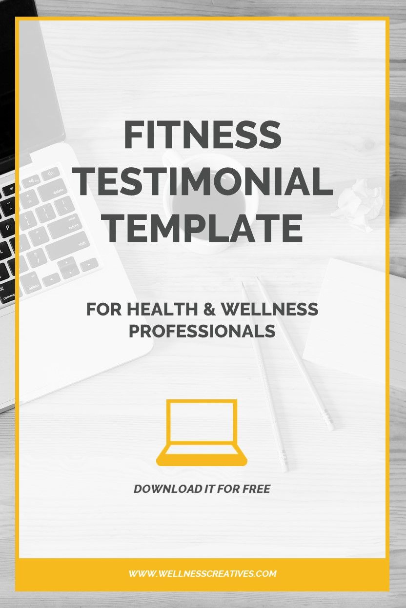 Fitness testimonials how to write a fitness testimonial pdf looking for a fitness testimonial template to use with clients then download our free pdf template here flashek Images