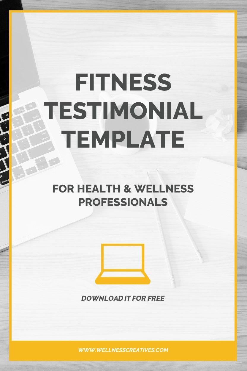 Fitness Testimonials [How To Write A Fitness Testimonial