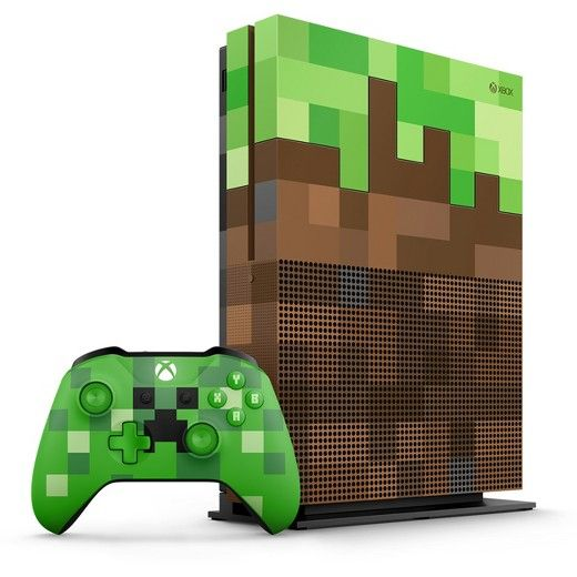 Pre Order The Xbox One S Minecraft Limited Edition Bundle 1tb Featuring A Custom Designed Grass Block Console And Xbox One S 1tb Xbox One S Xbox One Console