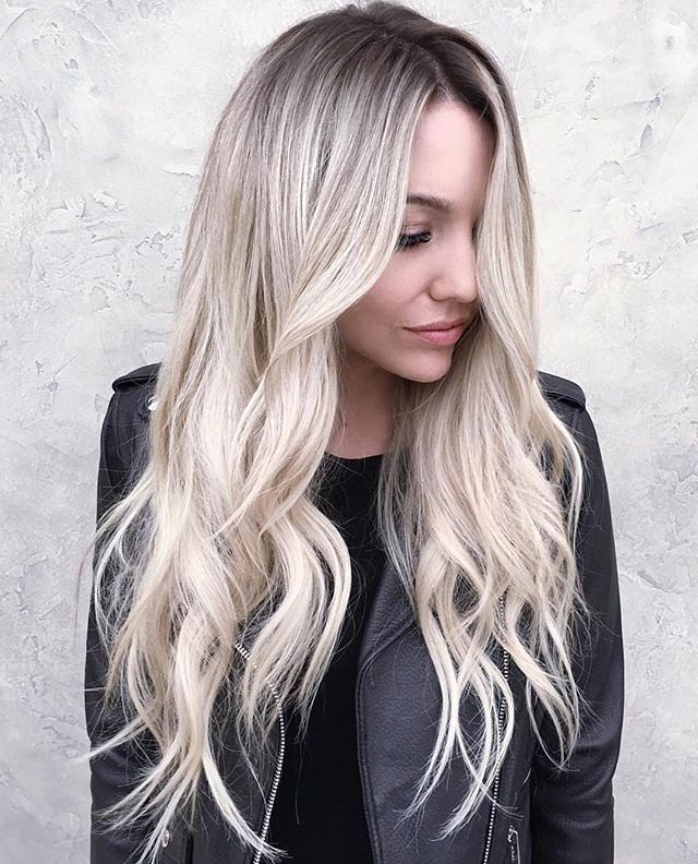 balayage blond polaire gris. Black Bedroom Furniture Sets. Home Design Ideas