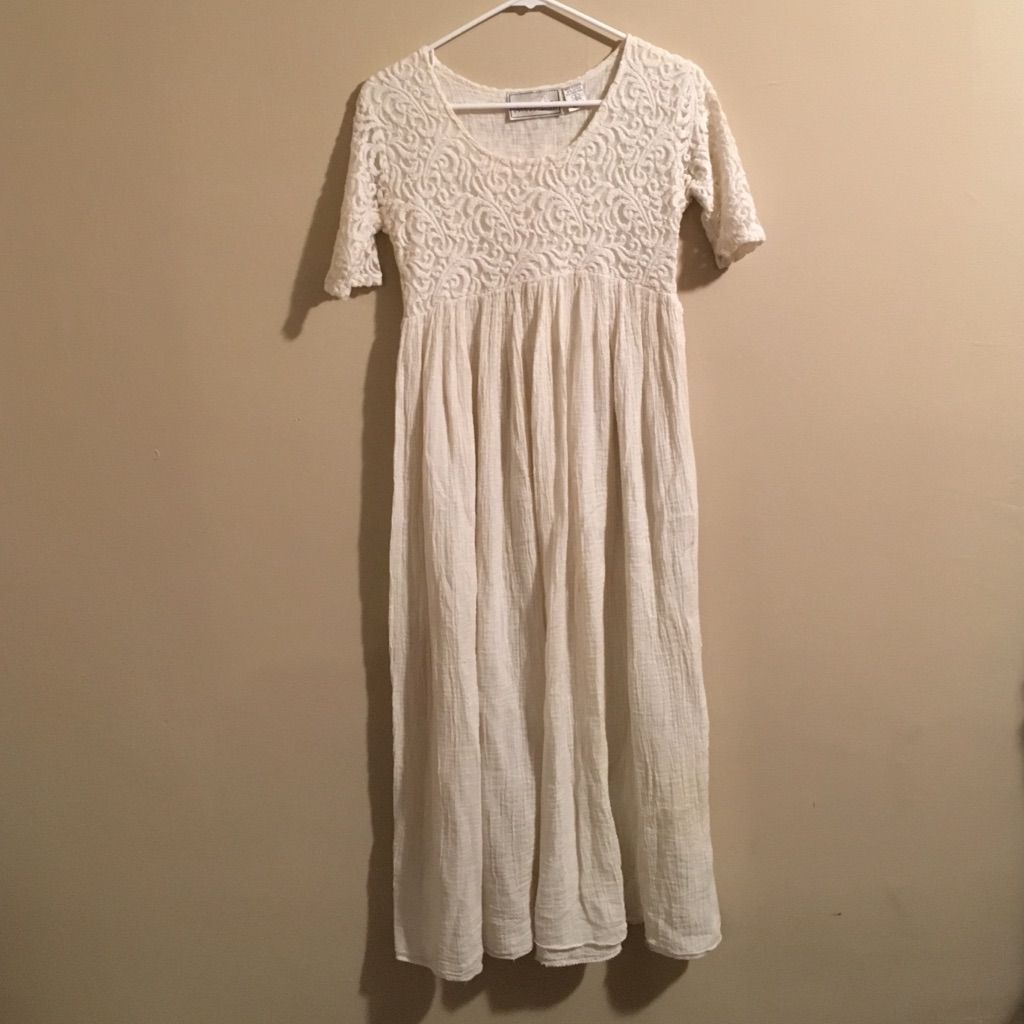 Gorgeous cotton grecian hippie wedding dress xs cotton and products