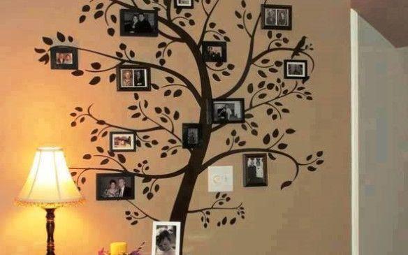Ideas para decorar las paredes de tu habitacion salons for Family tree picture wall ideas