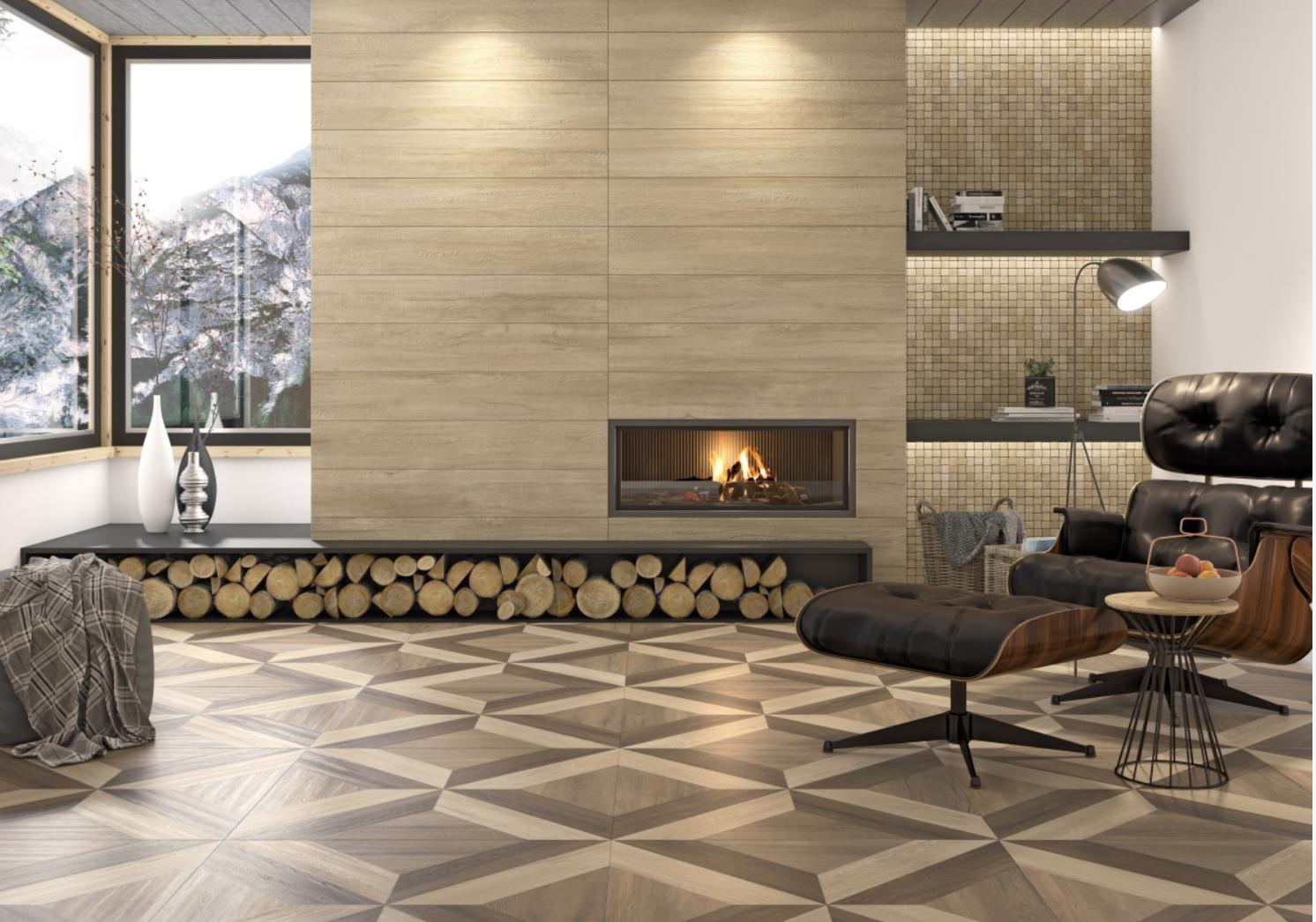 Parquet Style tile, Wood look tile, Tile design