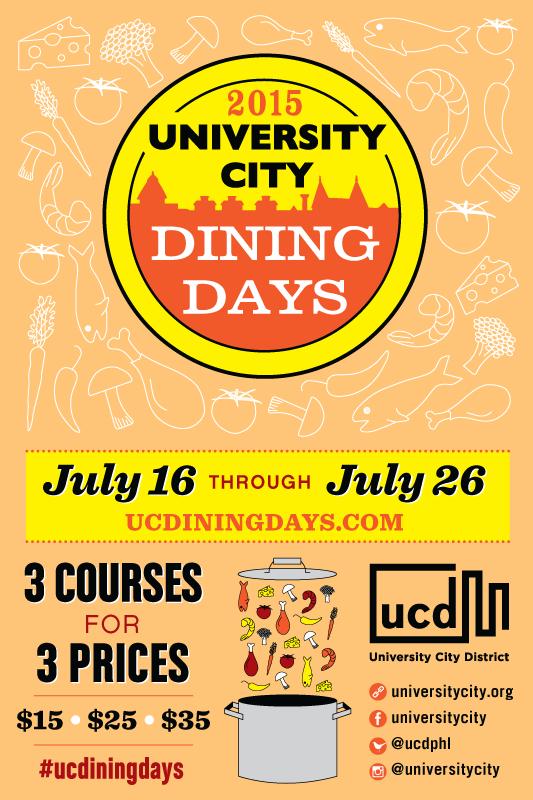 University City Dining Days Returns Next Month 7 16 15 7