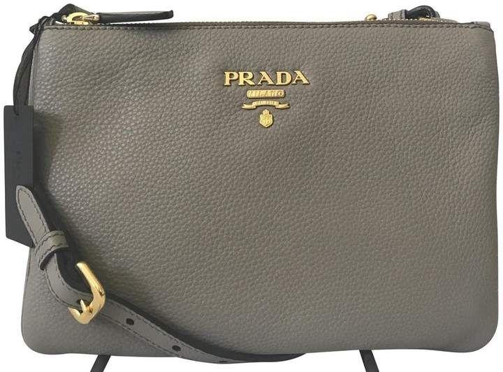 6cf09814670d3c Prada Vitello Phenix Crossbody Bag Gray | Products | Designer ...