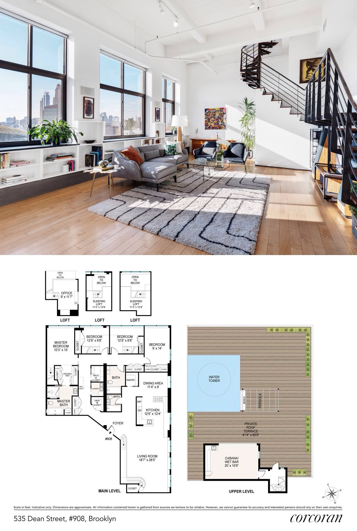 For 4m A Duplex Penthouse Beneath An Iconic Nyc Water Tower Apartment Floor Plans House Plans Nyc Water