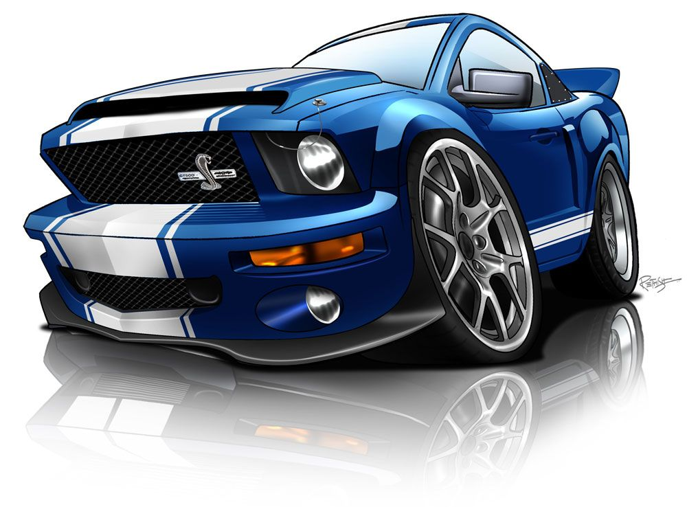 Shelby gt500 super snake caricature vw dessin cartoon art caricature et car - Coloriage cars toon ...