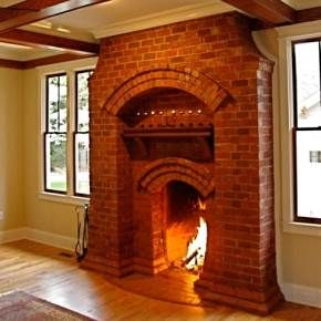 brick fireplace - meticulous design invoking a word other than ...