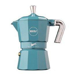Cafetera express aluminio color blu