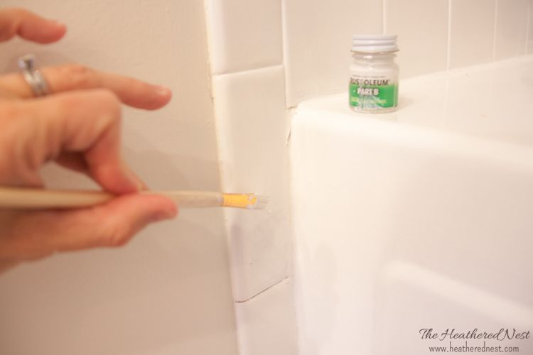 rust oleum touch up kit shower tile
