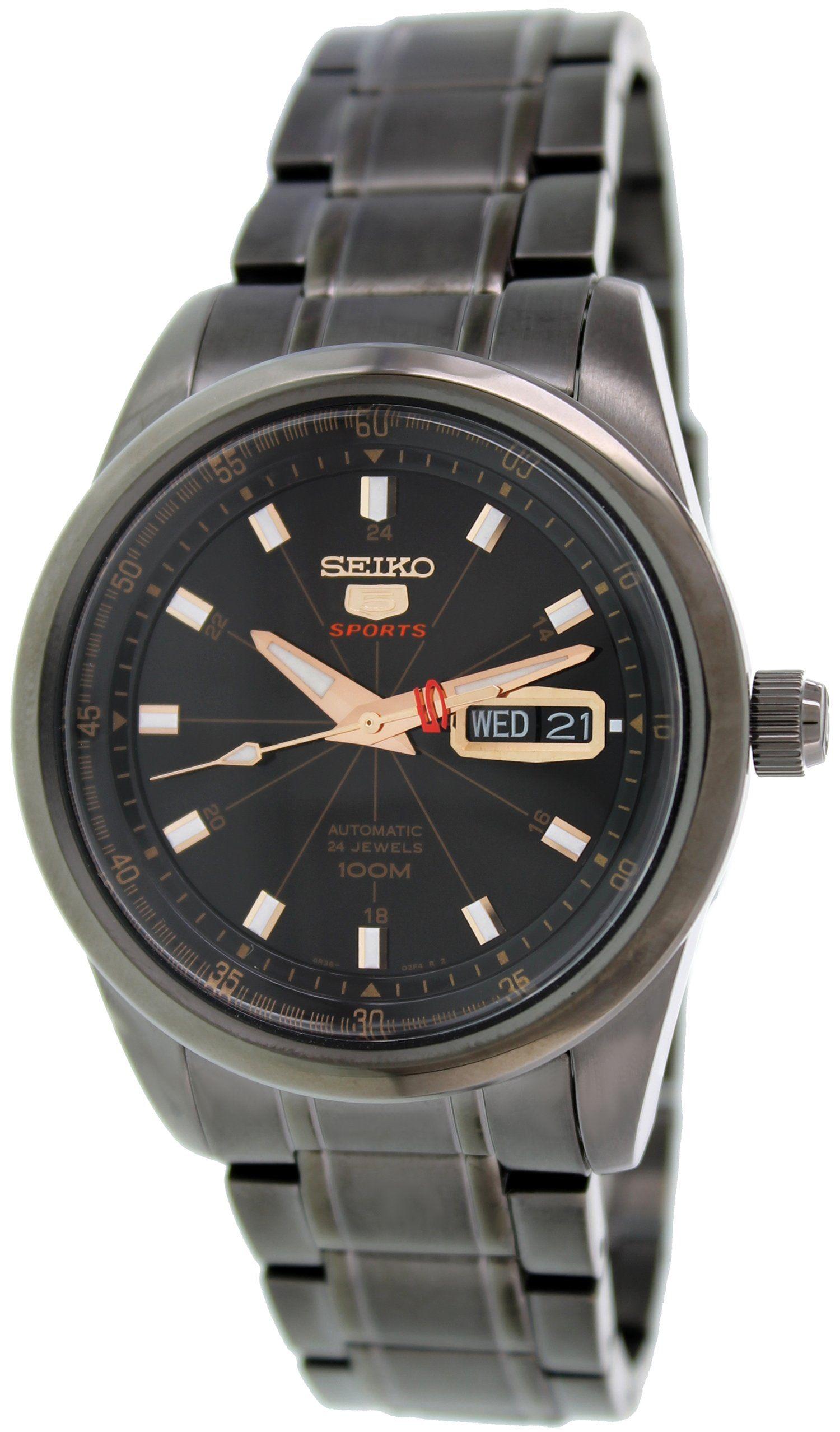 Seiko 5 Automatic Black Dial Black PVD