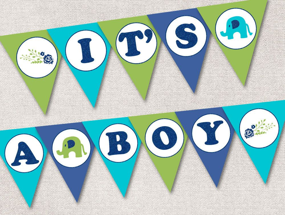 image regarding Printable Baby Shower Banners named Its a Boy Banner Printable, Boy or girl Shower Banner - Fast