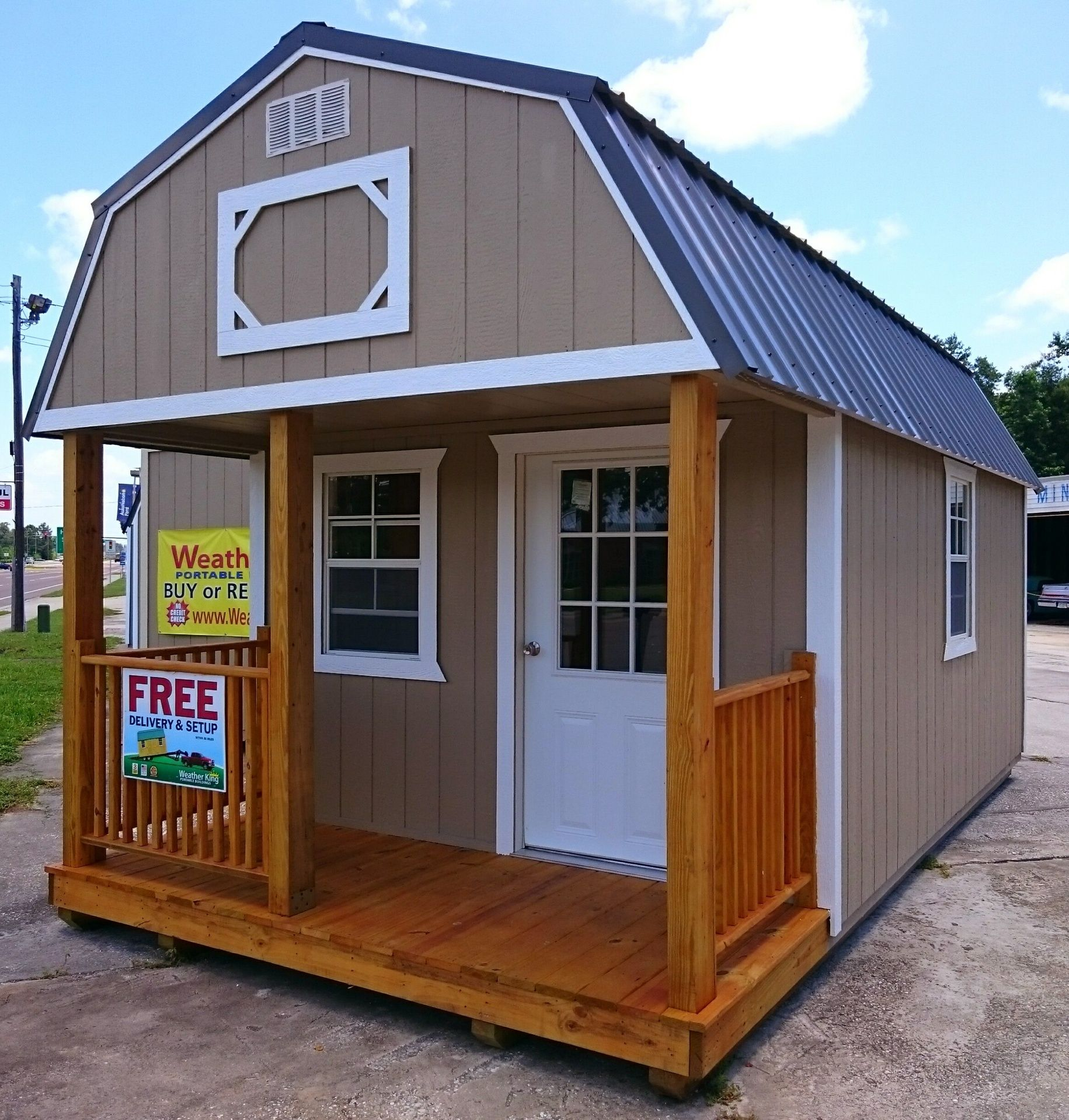 10x20 Painted Lofted Barn Cabin W Metal Roof Lofted Barn Cabin Shed To Tiny House Shed Cabin