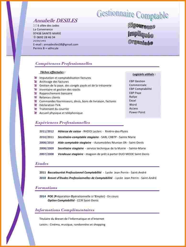 Resultat De Recherche D Images Pour Cv Exemple Secretaire Comptable Secretaire Comptable Comptable Cv Secretaire