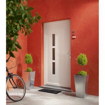Porte D Entree En Pvc Manhattan Primo 215 X 90 Cm Poussant Gauche Leroy Merlin 299 Decoration Maison Deco Porte Entree