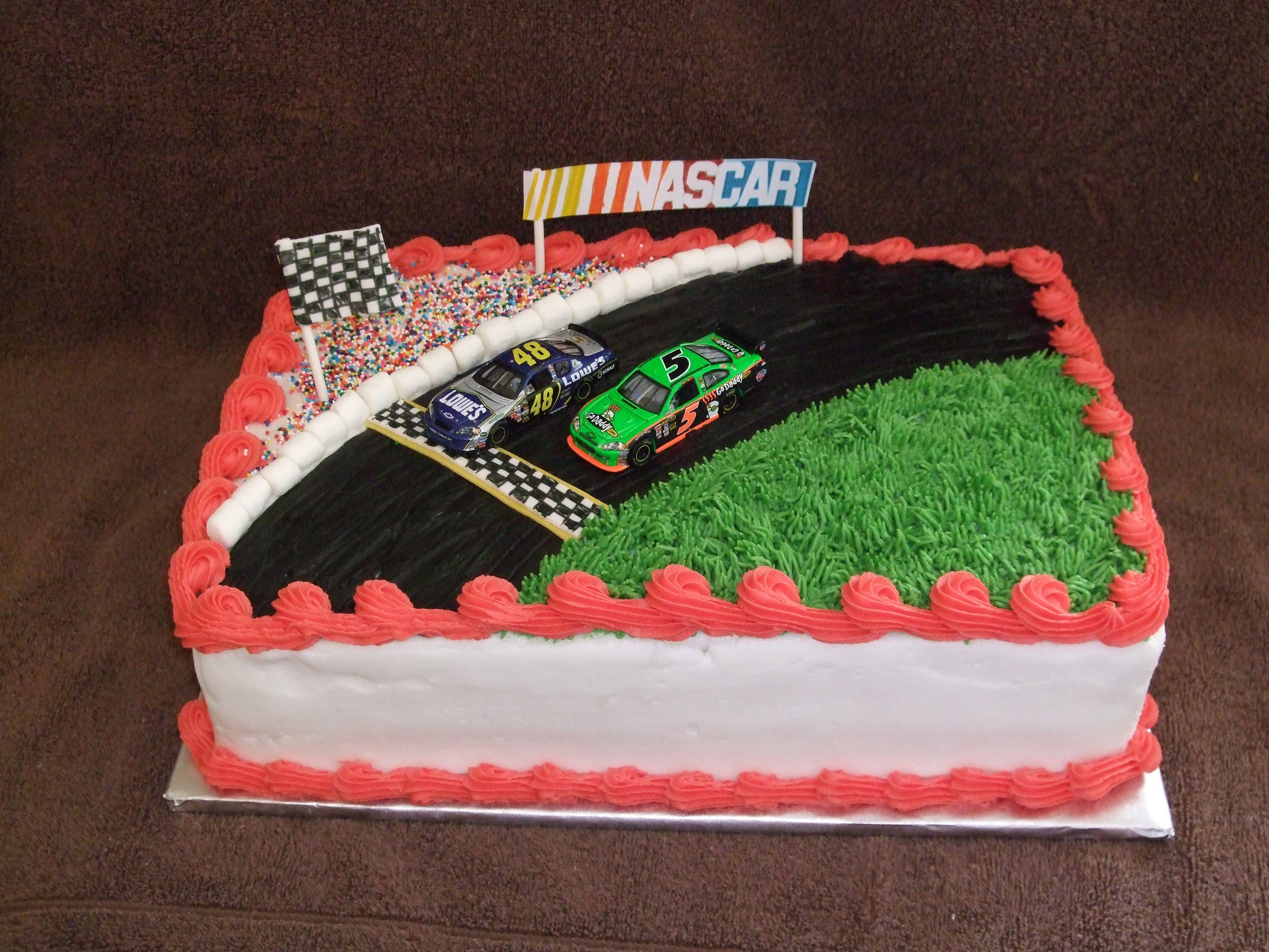 NASCARbirthdaycakeforaNASCARfan Cake decorating