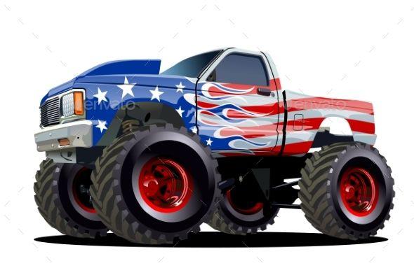 Cartoon Monster Truck Cartoon Monsters Monster Trucks And Cartoon