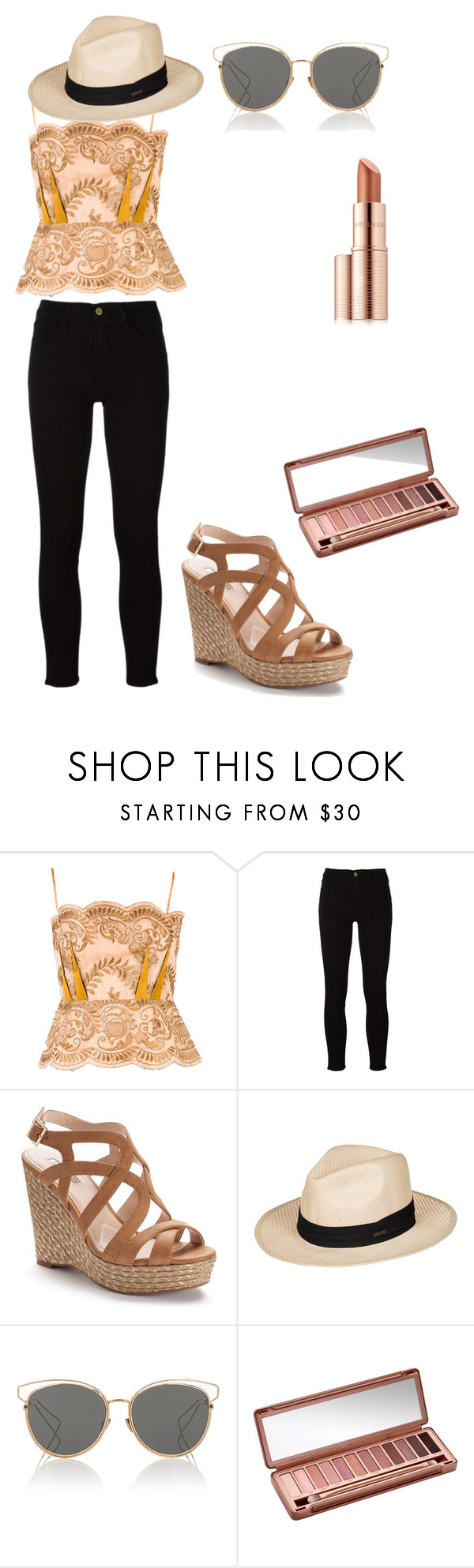 """""""peachy"""" by gretchiebear on Polyvore featuring STELLA McCARTNEY, Frame, Jennifer Lopez, Roxy, Christian Dior, Urban Decay and Estée Lauder"""