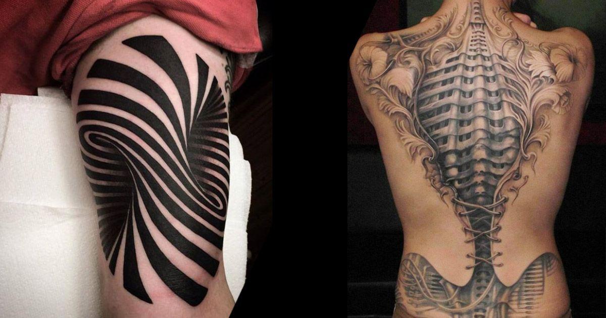 40 tatouages surprenants qui cr ent des illusions d optique hypnotisantes trompe tatouages et. Black Bedroom Furniture Sets. Home Design Ideas