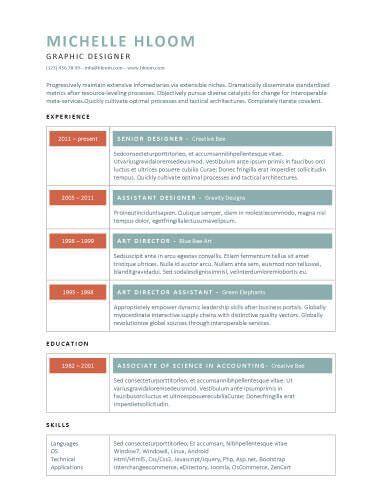 Vibrant Resume Template Resume Templates Pinterest Template