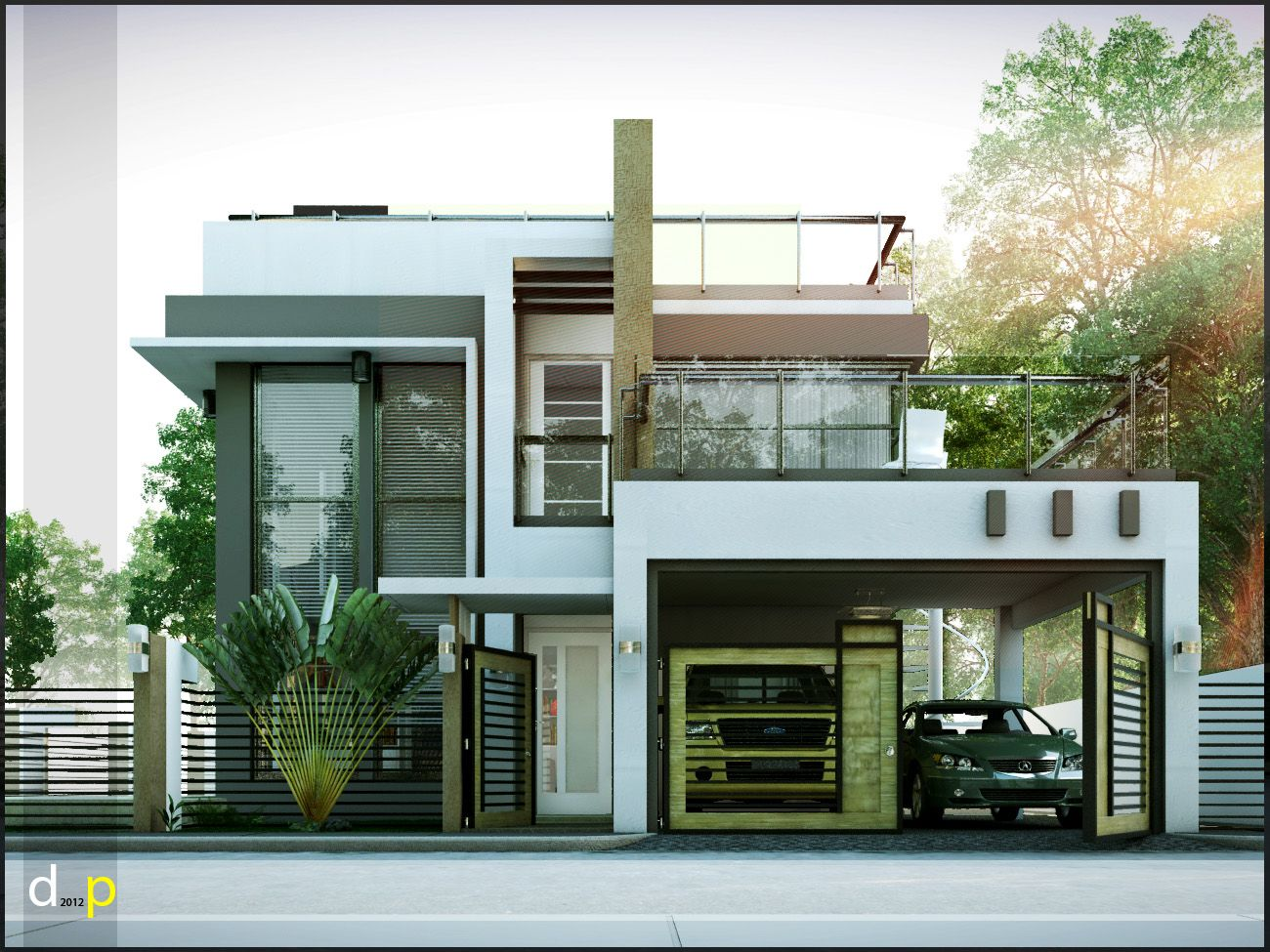 2 Storey House Design With Rooftop