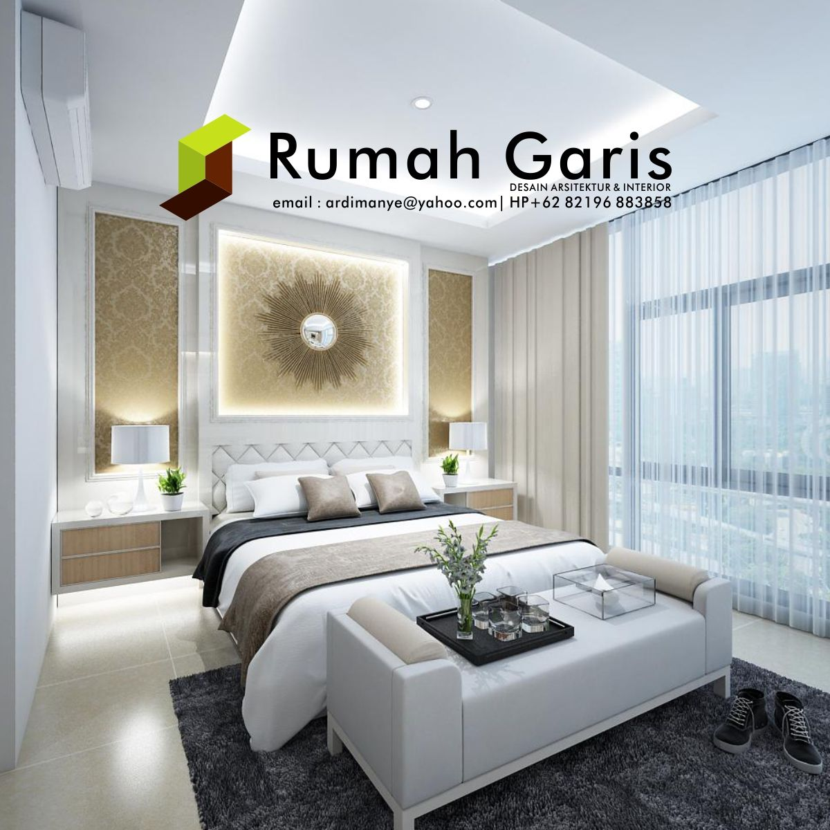 Desain Interior Master Bedroom Apartemen