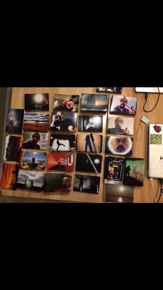 I just got new pictures. I through 3-5 autographed pictures in every #bigsteppin order. Sometimes more depending on the order amount :)  get yours free with any purchase at www.aarongoodwin.com