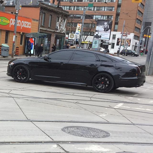 Check Out This Blacked-out Supercharged Jaguar XJL Monster