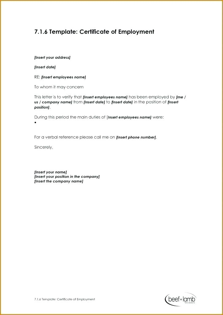 Sample Certificate Of Employment And New With Compensa