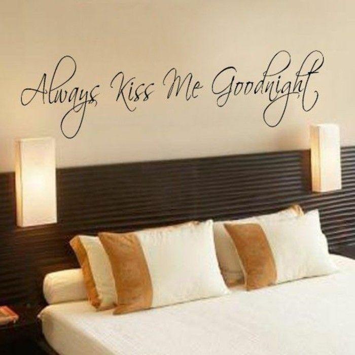 schlafzimmer deko beige bett lampen wandsticker - schlafzimmer deko bilder