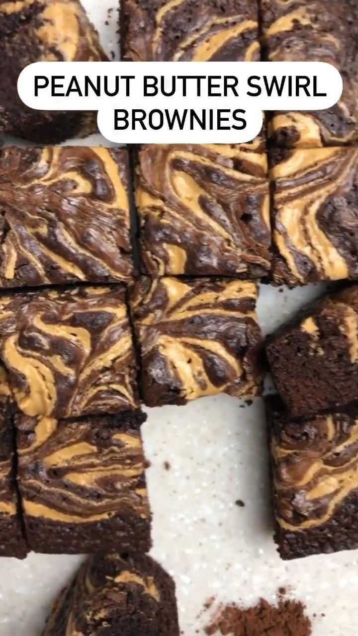Photo of Peanut Butter Swirl Brownies