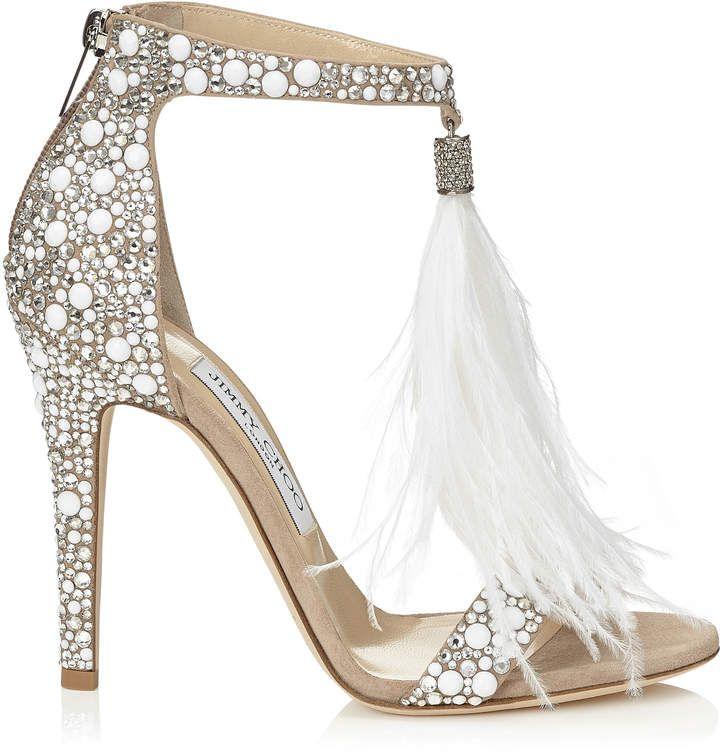 92d989177d29 JIMMY CHOO WHITE DANICA 80 WEDGE LEATHER SANDALS.  jimmychoo  shoes ...