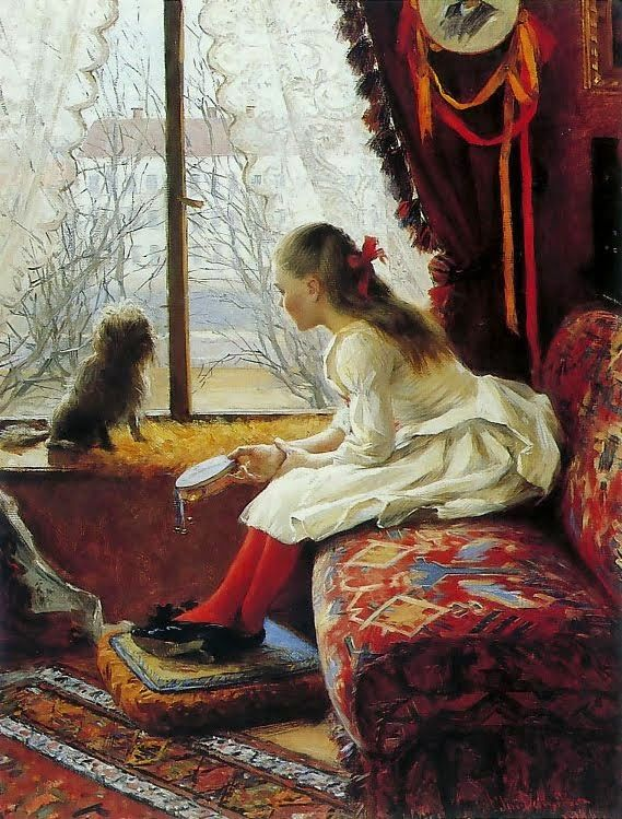 ART BLOG: Elin Danielson-Gambogi : Portrait of Walborg Jakobsson