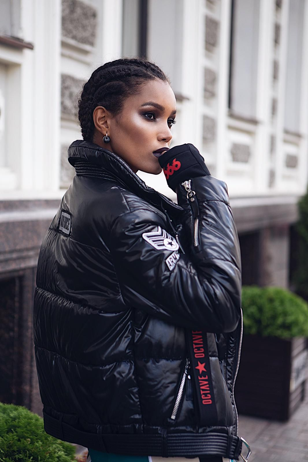 Black bomber BAD Available in black, red, beige, nevy