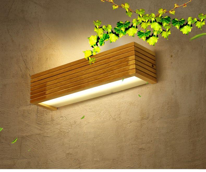 Moderne Japanischen Stil Led Lampe Eiche Holz Wandleuchte Lichter  Wandleuchte Für Schlafzimmer Home Beleuchtung, Wandleuchte