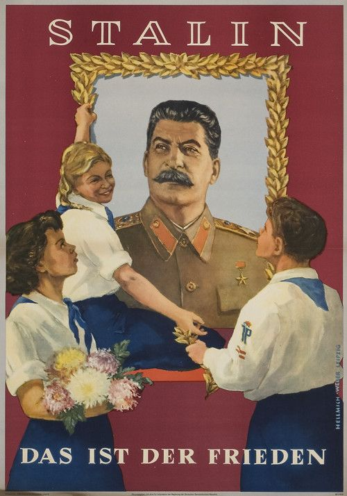 East German Poster Stalin That Is Peace 1952
