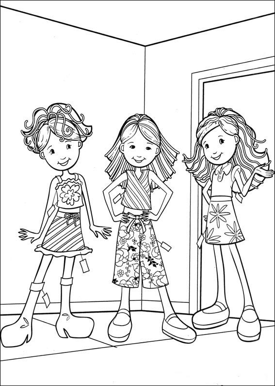Groovy Girls Coloring Pages 34 coloring good at any age 12