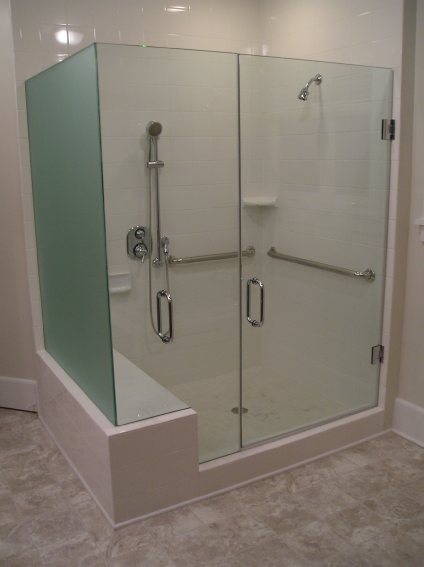 Glass HandicapShower Enclosure Learn More At