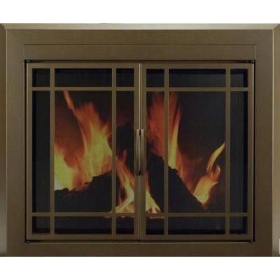 Pleasant Hearth Enfield Large Glass Fireplace Doors Fireplace