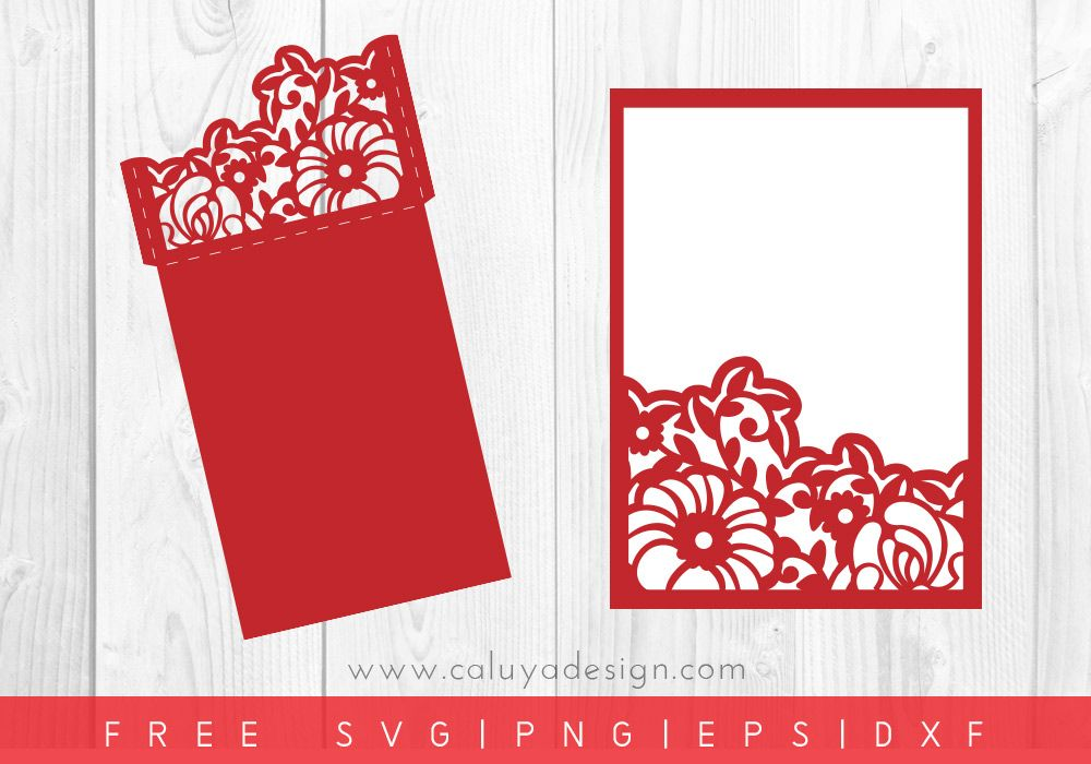 Free Floral Envelope Sleeve Svg Png Eps Dxf By Caluya Design Cricut Wedding Invitations Cricut Wedding Envelope Sleeve