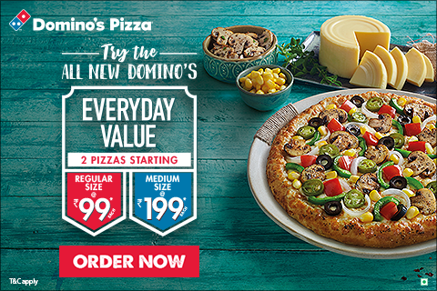 Get 2 Regular Pizzas For Rs 99 At Dominos Pizza Dominos Pizza Regular Pizza Good Pizza