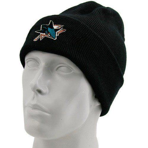 a3f8e412a91 San Jose Sharks Black BL Watch Primary Knit Hat by Reebok.  9.95. Cheer the  team that warms your heart in a cap that warms your head