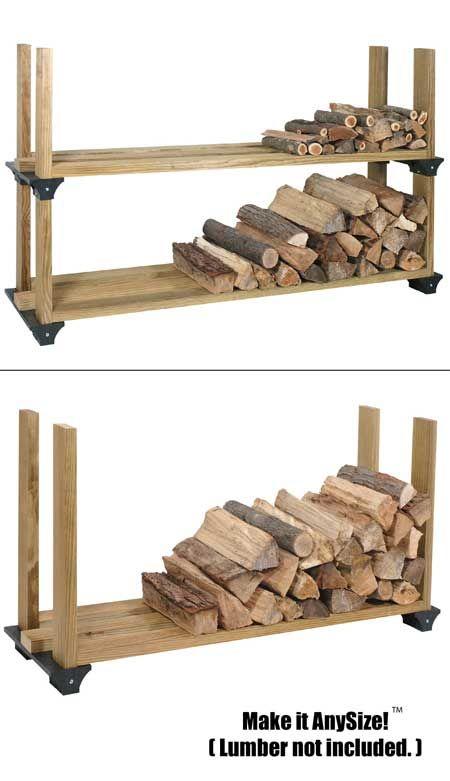 amazoncom 2x4basics firewood rack system black home improvement