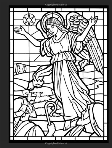 Amazing Angels Stained Glass Dover Coloring Book