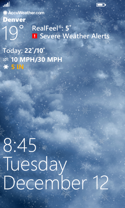Download AccuWeather Weather For Life App In XAP For Windows - Free accuweather