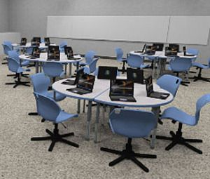 Computer lab 321 collaboration pinterest computer for Furniture u district