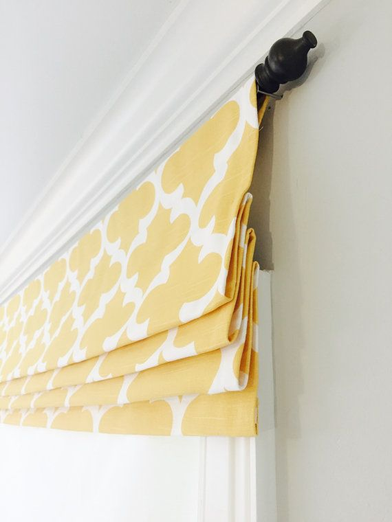 Faux fake flat roman shade valance Your choice by JaimeInteriors - telas para cortinas